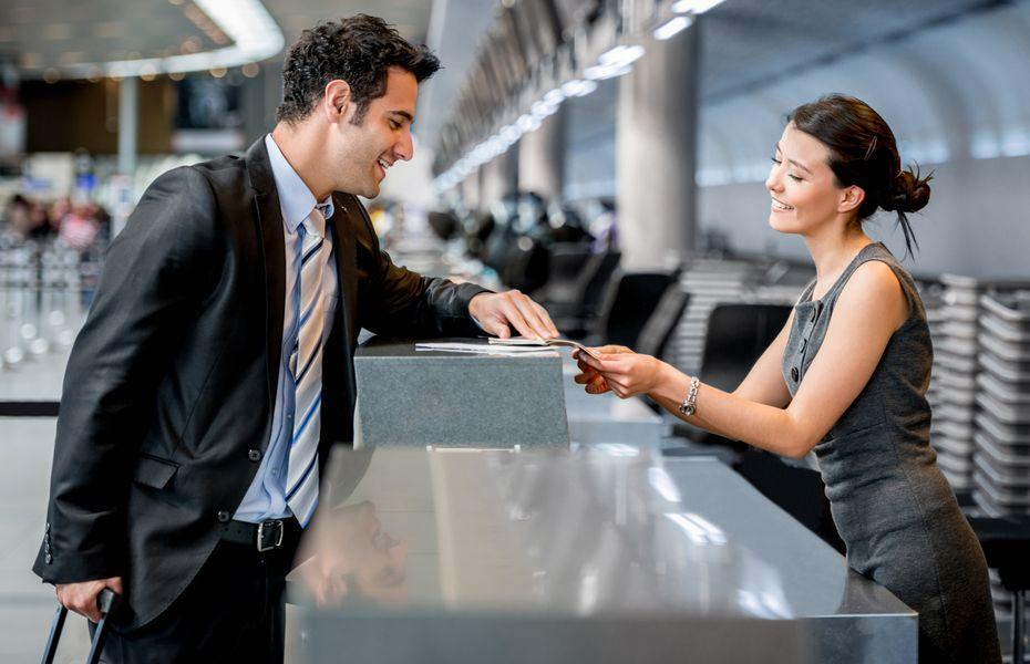 Airport check-in desk